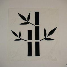 Appliqué bambou en flex thermocollant noir