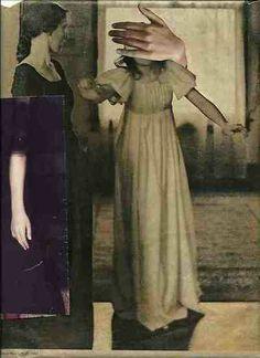 """deborahstevenson:  """" Blind Faith """" - collage on paper"""