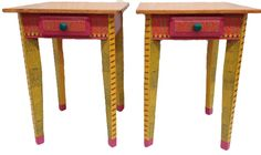David Marsh Table with Drawer, in Primary Colors