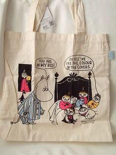 Moomin Valley book bag shopper bag NEW Moomin bed