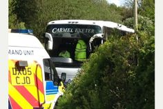 Two dead, eleven others taken to hospital after coach crash at Morval on A387 near Looe