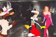 Animation/production cel for Who Framed Roger Rabbit (1988).