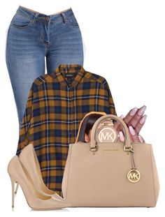 """""""Untitled #2818"""" by alisha-caprise ❤ liked on Polyvore featuring Monki, Michael Kors, MICHAEL Michael Kors and Jimmy Choo"""