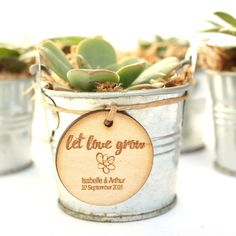 Personalised Wedding Favour Tags, Timber Tags, 'Let Love Grow' with succulent illustration, Set of 10 – Wedding Favors Tags Succulent Wedding Favors, Rustic Wedding Favors, Personalized Wedding Favors, Wedding Favor Tags, Wedding Ideas, Fall Wedding, Diy Wedding, Wedding Colors, Wedding Decorations