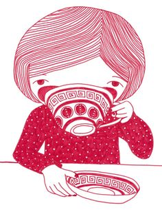 Image result for drinking tea illustration