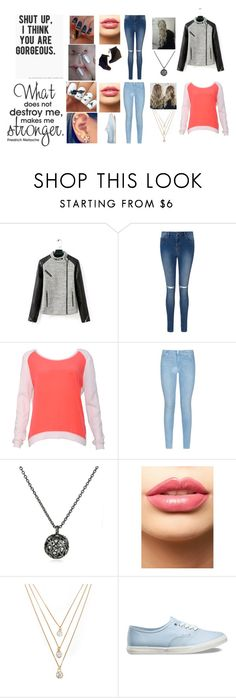 """""""He probably hates me now, do I hate him?"""" by troylerzalfie ❤ liked on Polyvore featuring Sandro, 7 For All Mankind, Sonal Bhaskaran, LASplash, Forever 21, Vans, Stuart Weitzman, women's clothing, women's fashion and women"""