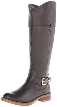 Kensie Women's Stefan Riding Boot * See this great product. Cool Boots, Selling Online, Shopping Hacks, Knee High Boots, Fashion Boots, Black Boots, Riding Boots, Womens Fashion, Stuff To Buy