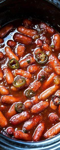 Crock pot little smokies recipe food - crockpot recipes еда, Finger Food Appetizers, Yummy Appetizers, Appetizers For Party, Appetizer Recipes, Crock Pot Appetizers, Freezable Appetizers, Avacado Appetizers, Prociutto Appetizers, Mexican Appetizers