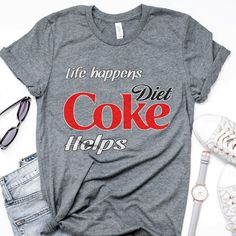 Coca Cola, Heart Diet, Cute Christmas Outfits, Coke Cans, Diet Coke, Cute Shirts, Energy Drinks, Coco, T Shirts For Women
