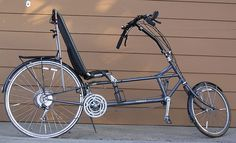 This Osell long-wheel-base recumbent was built by a local Minneapolis bike-builder. Recumbent Bicycle, Bike Builder, Touring Bike, Metal Art, Bicycles, Vehicles, Sweet, Ideas, Antique Bicycles