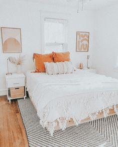 Cute Bedroom Decor, Cute Bedroom Ideas, Teen Room Decor, Room Ideas Bedroom, Bedroom Inspo, Bedroom Designs, Girls Bedroom, Boho Home, Aesthetic Room Decor