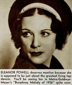 "Eleanor Powell (1912-1982), from ""New Movie"", August 1935"