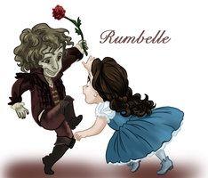 Rumpel and Belle as kids