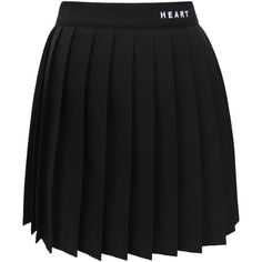 Heart Type Pleated Skirt ($35) ❤ liked on Polyvore featuring skirts, pleated skirt, knee length pleated skirt and heart skirt