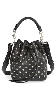 Saint Laurent Studded Small Leather Bucket Bag available at #Nordstrom