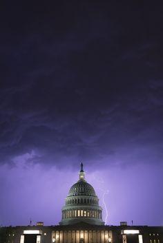 US Capitol Lightning Us Capitol, Capitol Hill, Historical Landmarks, Lightning Strikes, Taj Mahal, Past, United States, America