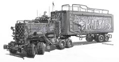 really love the shape of this truck. makes me want a Mad Max style army.