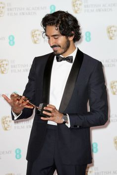 Find someone that looks at you with the same love that Dev looks at his BAFTA tbh.
