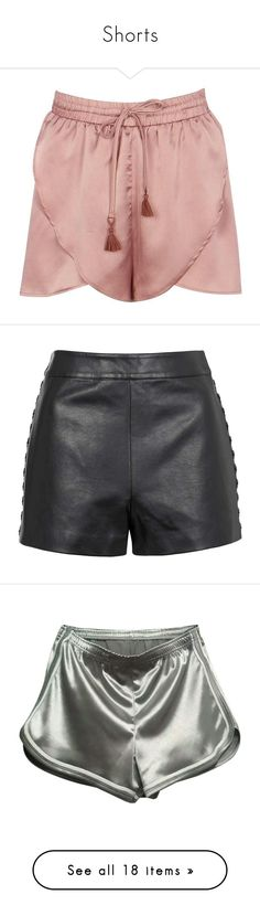 """Shorts"" by charm-prado ❤ liked on Polyvore featuring shorts, sequined shorts, flat-fronted shorts, stretch waist shorts, hot shorts, embellished shorts, topshop, bottoms, black and topshop shorts"