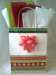 Bidding happening now!! Ho Ho Ho Christmas Handcrafted Gift Bag
