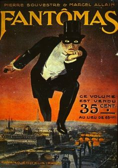 Awesome French pulp fiction cover from the early teens of the 20th Century.