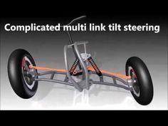 Simple tilt steering of small electric T-car VS complicated multi link tilting steering system - YouTube Electric Cars, Electric Scooter, Bike With Sidecar, Three Wheel Bicycle, Innovation And Entrepreneurship, Reverse Trike, Car Mods, Cargo Bike, I Cool