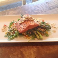 The sun is shining & our patio is awaiting you! So come treat yourself with Pan Seared Salmon, Grilled Asparagus, Cous Cous, Arugula & Pine Nut Brown Butter for $21 #BubbysKitchen ... We are proud to serve only meats that are naturally raised without the use of hormones or antibiotics. Our menu items are prepared fresh from scratch using local sustainable products wherever possible. There are many options available for a wide variety of dietary restrictions – we would be happy to accommodate…