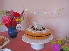easter tea party - Tea Party Time PDF Cake Bunting with polka dots & roses by Bumpkin, €4.00