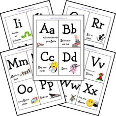 FREE alphabet exercise cards!