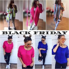 BLACK FRIDAY ružový a modrý pletený sveter veľ.UNI ( z 1990 na 1490) pletený ružový kardigán veľ.UNI (zo 4390 na 4190) aztec kardigán veľ.UNI (z 2990 na 2790) A veľa iného nájdeš na www.tvojstyl.fashion  #blackfriday#happyfriday#shoping#sale#tvojstyl#fashion