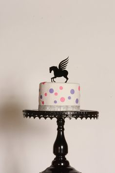 Pegasus Horse birthday cake topper Acrylic Cake by 1TheCherryOnTop