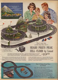 Classic Sears Pike Peak slot car set https://plus.google.com/+JohnPruittMotorCompanyMurrayville/posts