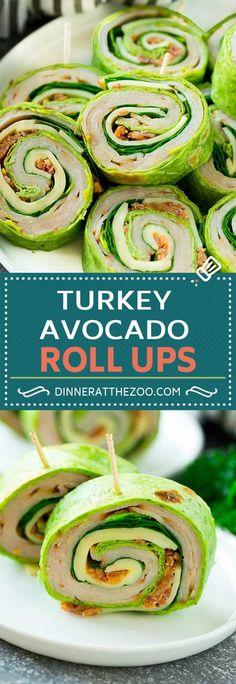 Turkey Roll Ups Recipe   Turkey Pinwheel Sandwiches   Turkey Roller Sandwiches