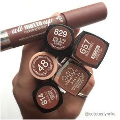 What's your favorite brown lipstick? Post and share tomorrow for our weekly #lipstickcompare! #brownlips #lipstickfavorite #makeup #lipstick #octoberlynnkc