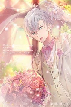My husband Saeran! Handsome Anime Guys, Cute Anime Guys, Anime Boys, Mystic Messenger Yoosung, Sailor Moon Background, Messenger Games, Mystic Messenger Characters, Saeran Choi, Anime Wedding