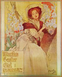 Mucha's Easter Girl