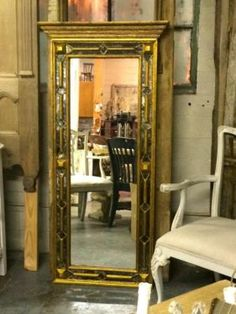 """Italian Florentine Mirror  29"""" Wide x 61"""" High x 4"""" Deep   $695  Parkhouse Antiques  114 Parkhouse  Dallas, TX 75207  Call for appointment.  Like us on Facebook: https://www.facebook.com/p"""