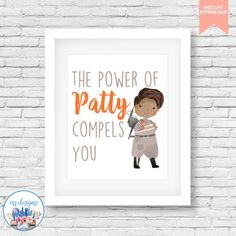 Ghostbusters Patty Printable 8x10 Sign by ERRdesigns