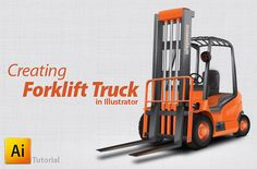 How to Create a Forklift Truck in Illustrator | InstantShift
