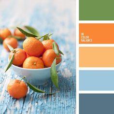 Fresh Mandarin Hues & Denim Blues.