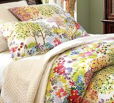 Woodland Organic Duvet Cover & Sham, from Pottery Barn