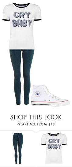 """Untitled #267"" by cruciangyul on Polyvore featuring Topshop, Boohoo and Converse"