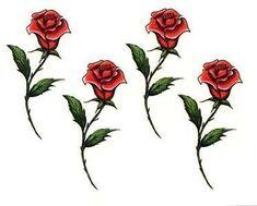 long stem rose tattoo designs