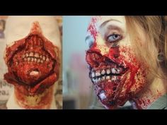 8 Seriously Scary Halloween Costumes Craft Source by Halloween Makeup Witch, Scary Halloween Costumes, Halloween Ideas, Halloween 2018, Halloween Stuff, Zombie Face, Zombie Makeup, Sfx Makeup, Creepy Makeup