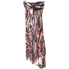 Pre-owned Missoni Brand New Runway Rosa Sequined Strapless Animal... ($798) ❤ liked on Polyvore featuring dresses, none and missoni