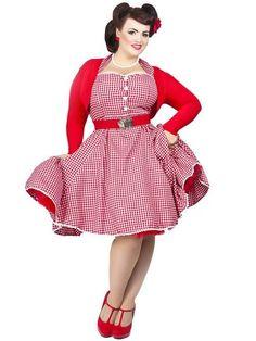 Plus size retro dresses uk