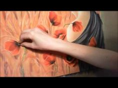 soft pastels - drawing poppies