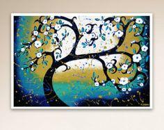 Brown Tree Print Vintage Inspired Tree PRINT Tree by hjmArtGallery
