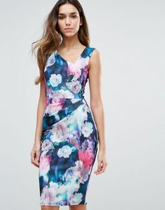 Jessica Wright Floral Printed Midi Dress