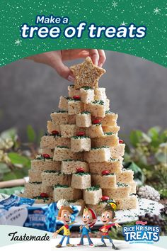 As the first crisped rice cereal, Kellogg's® Rice Krispies® has been bringing families together in the kitchen for over 80 years. Christmas Deserts, Christmas Party Food, Xmas Food, Christmas Brunch, Christmas Appetizers, Christmas Cooking, Christmas Goodies, Holiday Desserts, Holiday Baking